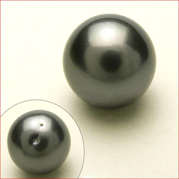 12.8ミリ タヒチ黒真珠 リング・ペンダント用 ルース  10P15Jan10