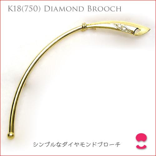 K18イエローゴールド ダイヤモンド ブローチ 【saletolai0116】