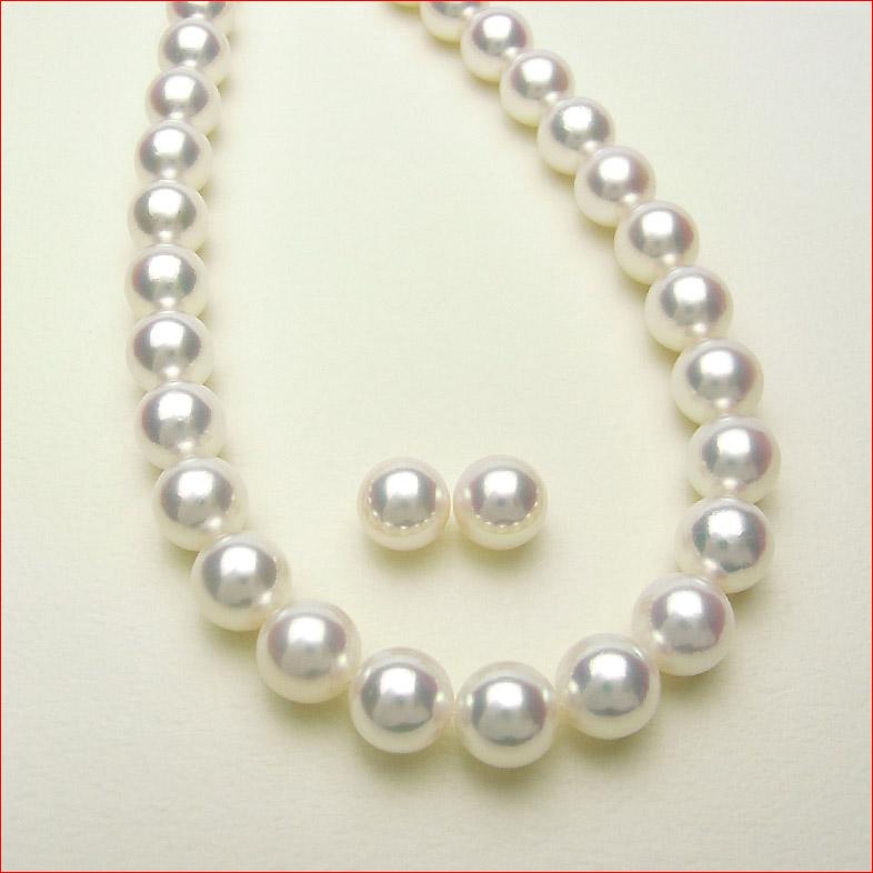 即納 レインボーピンクあこや真珠を集めて組んだ特別仕様 8-8.5ミリあこや真珠ネックレス セットで8.1ミリペア付 真珠総合研究所 花珠鑑定付 0619PUP10JU