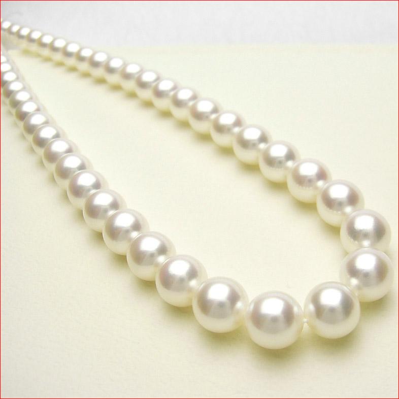 シルクのようななめらかなホワイトピンクあこや真珠を集めて組んだ特別仕様ネックレス 8.5-9ミリ 【tokai1106sale】