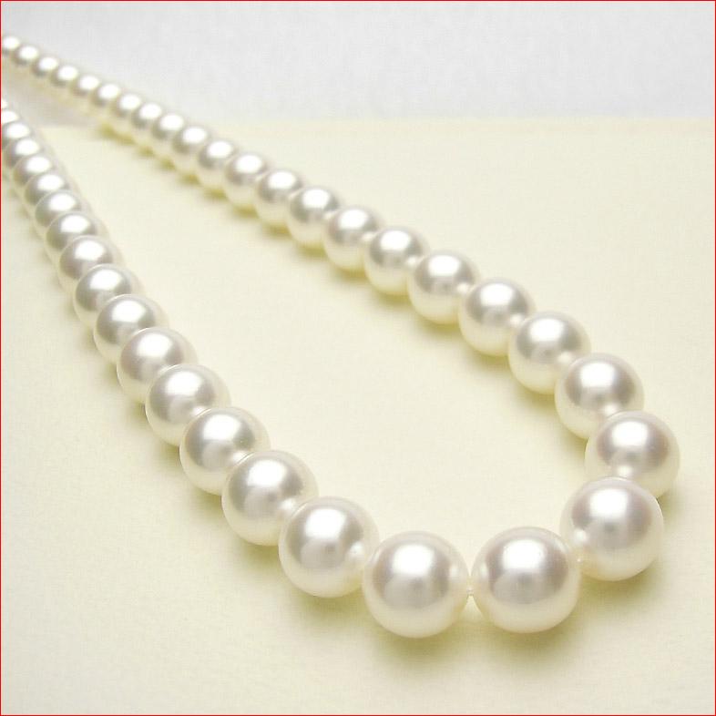 シルクのようななめらかなホワイトピンクあこや真珠を集めて組んだ特別仕様 8.5-9ミリネックレス 0619PUP10JU