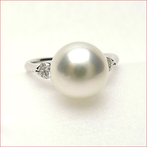 花珠鑑定書 ついてます 9.4ミリの明るいテリテリピンク あこや真珠 プラチナリング 10P05feb10