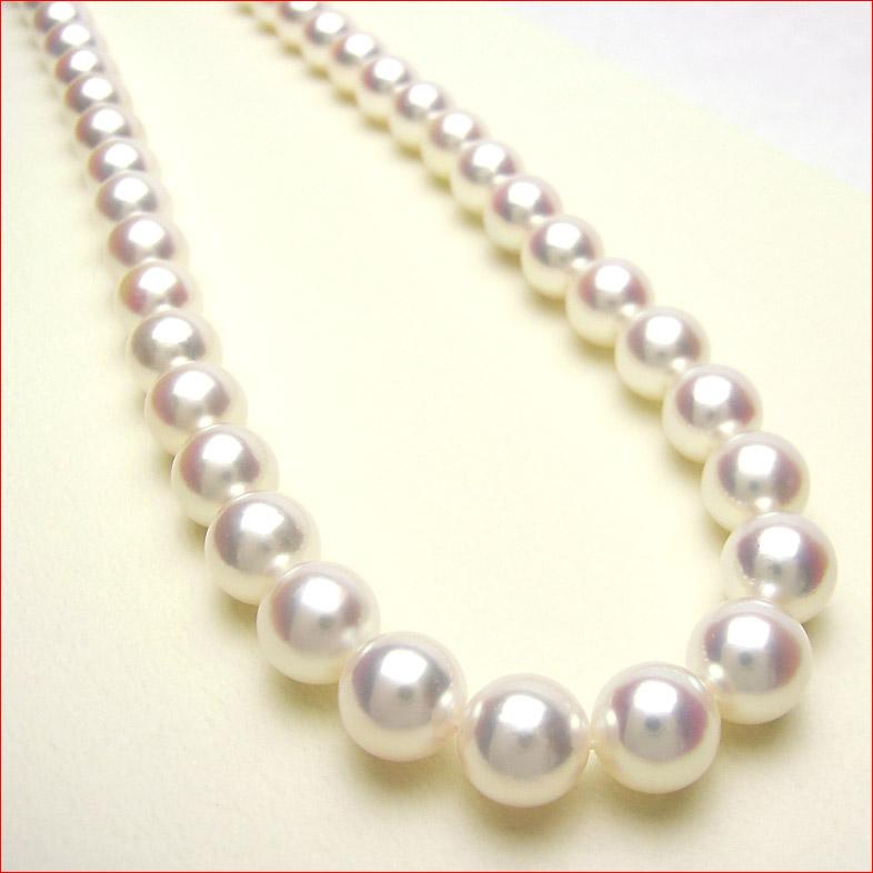 即納 花珠鑑定書付 8.5-9ミリあこや真珠ネックレス とピアス・イヤリング用ペア珠セット  10P15Jan10