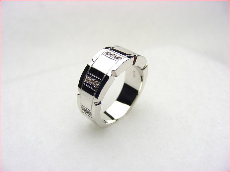 シンプル 無垢 K18ホワイトゴールド ダイヤモンドリング PUP090713MJ10 10P21Jul09