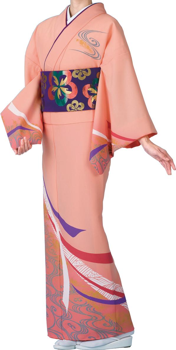 踊り衣裳 絵羽着物【仕立上り】 のしめ柄 ピンク地