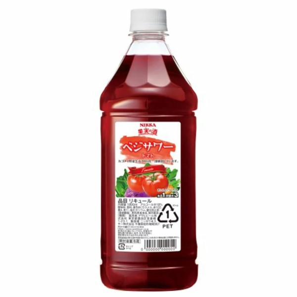 ロック ソーダ割り ストレートどれでも楽しめます アサヒ ニッカ 送料無料(一部地域を除く) ベジサワー 同一規格6本まで同梱可能 売買 トマト カクテルコンクPET1.8L