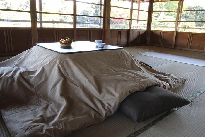 Kotatsu こたつ布団カバー 正方形 205cm角用 なごみ わら  ベージュ