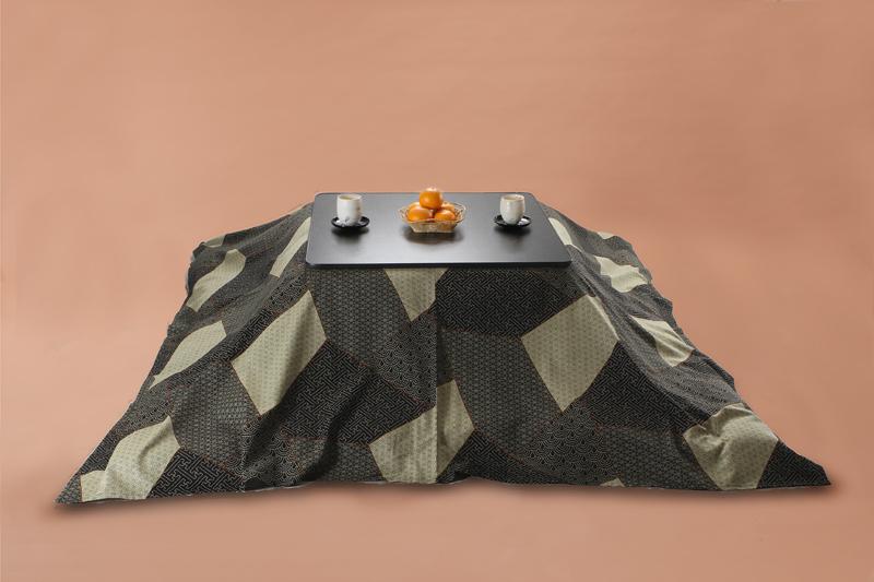 Kotatsu こたつ上掛け 長方形205×245cm 刺し子三昧