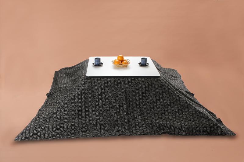 Kotatsu こたつ上掛け 長方形205×245cm 麻刺し子