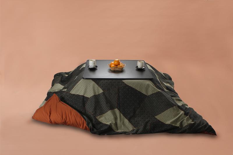 Kotatsu こたつ布団カバー 正方形205cm角 刺し子三昧