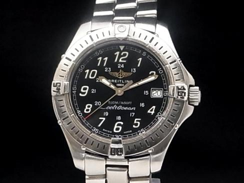 Breitling - BREITLING-Colt Ocean A64350 SS/SS black dial quartz mens