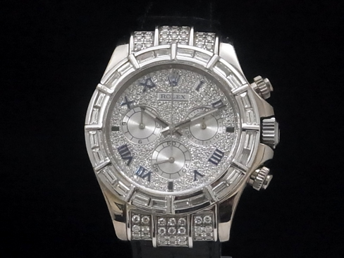 Rolex - ROLEX - Cosmo graph Daytona Ref.116519 18KWG pail diamond bezel automatic P turn men