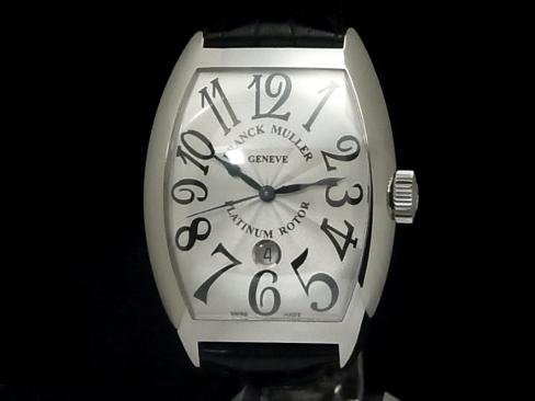 【USED】 フランクミュラー - FRANCK MULLER - トノーカーベックス プラチナローター 9880SCDT SSケース/革 自動 メンズ 腕時計【未使用品】