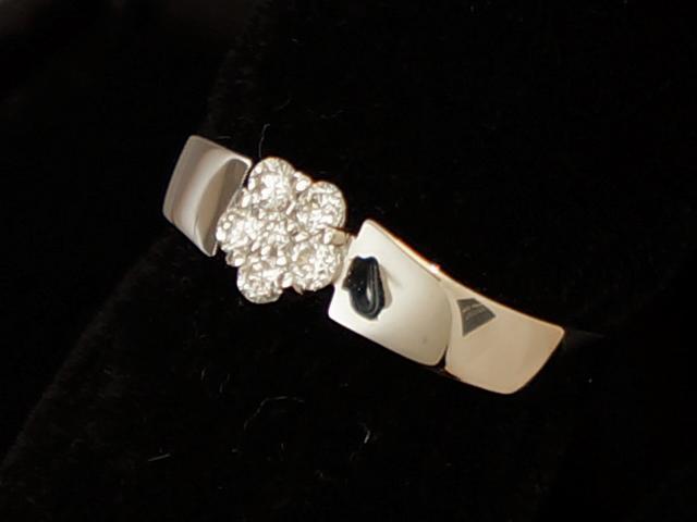 【New Finish】 ポンテヴェキオ - RING - フラワー 6P ダイヤ リング WG ホワイトゴールド 無垢 / ダイヤモンド (0.18ct) 指輪 【Luxury Brand Selection】