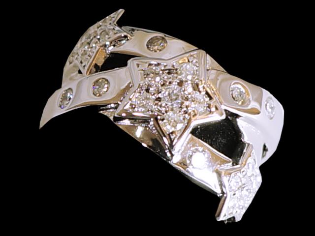 【NEW】 ダイヤモンド リング - RING - スター 26P ダイヤ WG ホワイトゴールド 無垢 / ダイヤ (0.52ct) 指輪
