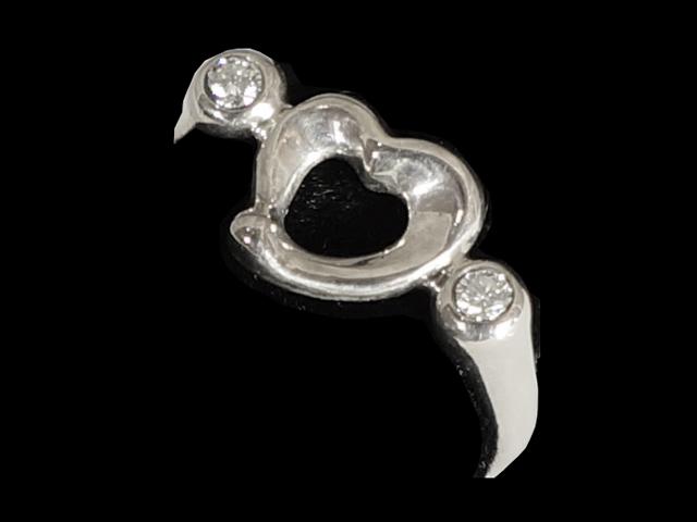 【New Finish】 ティファニー - RING - オープンハート2P ダイヤモンド リング  SV (銀 シルバー) 指輪【Luxury Brand Selection】