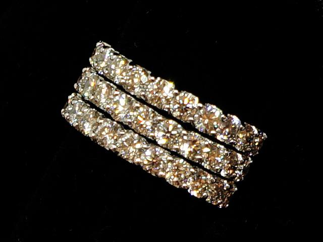 【NEW】 ダイヤモンド リング - RING - 3ライン・ハーフ エタニティ 33P PT (プラチナ) / ダイヤ (3.56ct) 指輪