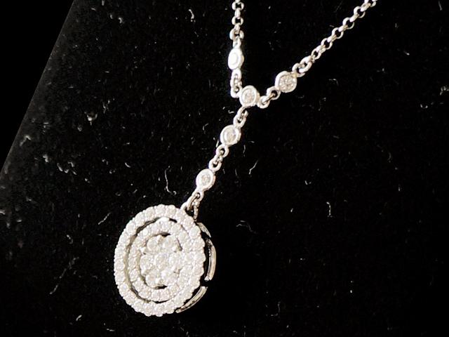 【NEW】 ネックレス - Necklace - サークル ダイヤモンド チェーン4Pダイヤ WG ホワイトゴールド 無垢 / ダイヤ (約1.00ct) ペンダント