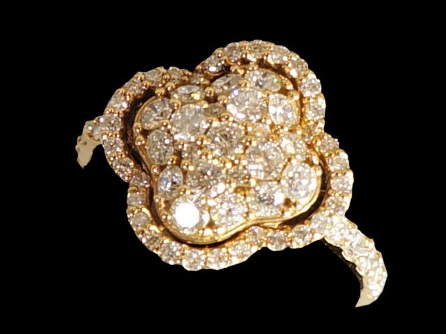 【NEW】 ダイヤモンド リング - RING - フラワーダイヤ  K18PG (18金 ピンクゴールド) / ダイヤ (1.09ct) 指輪