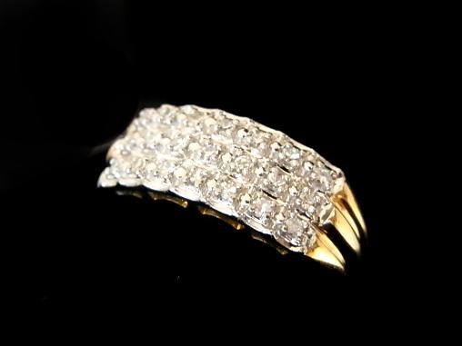 【NEW】 ダイヤモンド リング - RING - 3ストレートライン21Pダイヤ YG無垢イエローゴールド) / ダイヤ (0.21ct)指輪