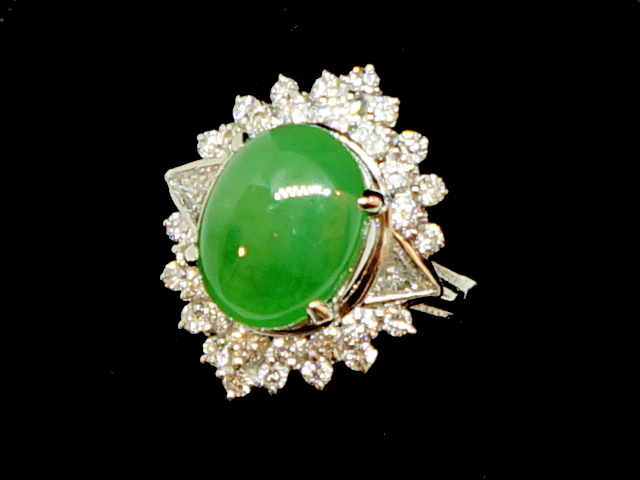 gold diamond yellow ring auction jade