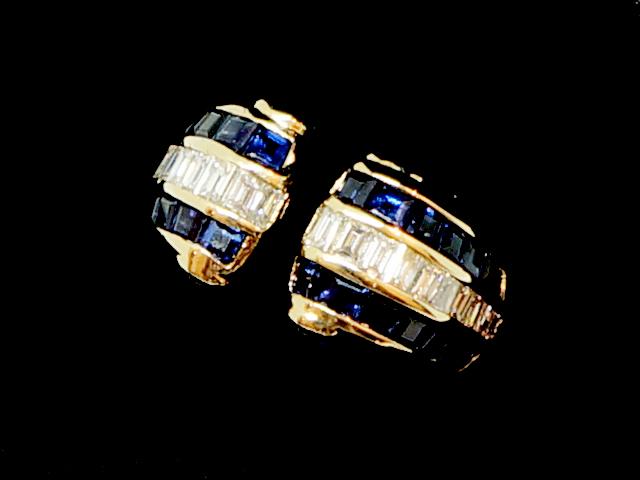 【NEW】 ブルーサファイヤ&ダイヤモンド リング - RING - 28P バケット サファイヤ + 22P バケット ダイヤ ミステリーセッティング YG イエローゴールド 無垢 / サファイヤ / ダイヤ (50P) 指輪