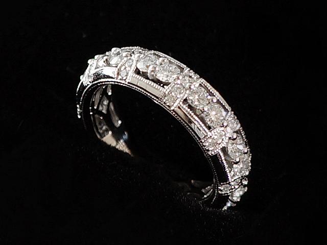NEW ダイヤモンド 感謝価格 リング - RING 18Pダイヤ エタニティ 無垢 1.39ct WG 指輪 ホワイトゴールド 贈物 ダイヤ