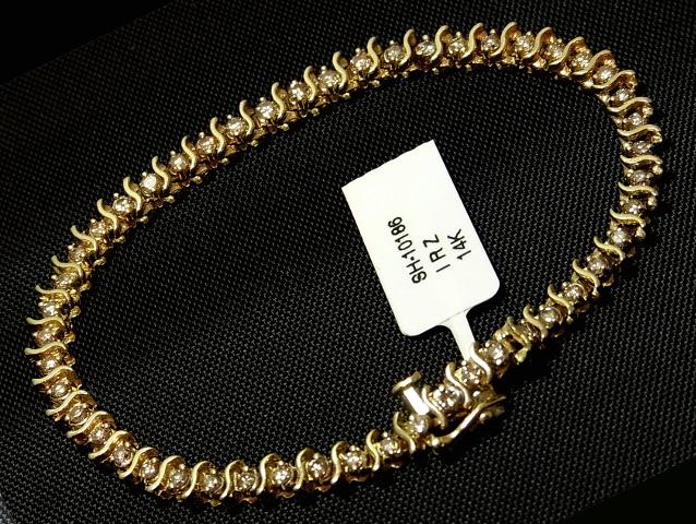 【New Finish】ダイヤモンド ブレスレット - Bracelet - テニスブレスレット フルダイヤ K14YG (14金 イエローゴールド) / ダイヤ (3.00ct)
