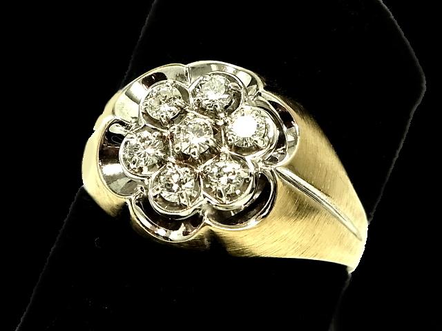 New Finish 安心と信頼 ダイヤモンド リング - RING 価格交渉OK送料無料 7Pダイヤ スカラップ 指輪 ダイヤ 18金 K18YG イエローゴールド ピンキーリング 0.56ct