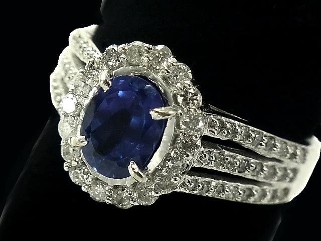 NEW タンザナイトダイヤモンドリング - 未使用品 RING 1Pオーバル ブルータンザナイト メレダイヤ WG タンザナイト ホワイトゴールド ダイヤ オープニング 大放出セール 指輪 無垢 1.70ct 0.60ct