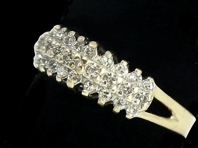 【New Finish】 ダイヤモンド リング - RING - 3連ストレートライン 27Pメレダイヤ YG イエローゴールド 無垢 / ダイヤ (1.12ct) 指輪