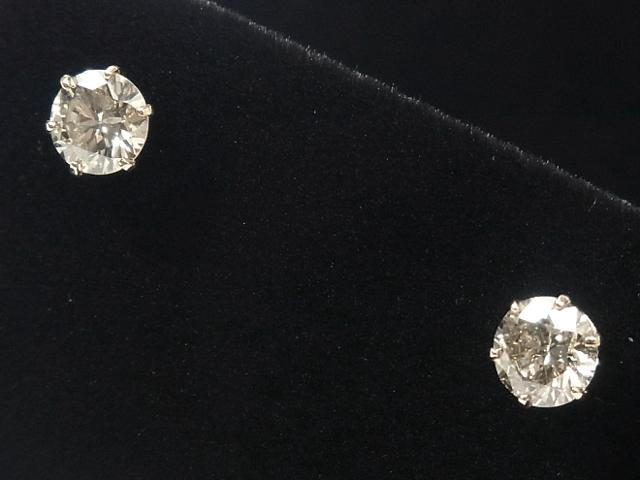超激安 NEW 毎日続々入荷 ピアス - earing スタッドピアス 計0.75ct RGローズゴールド無垢 ダイヤ