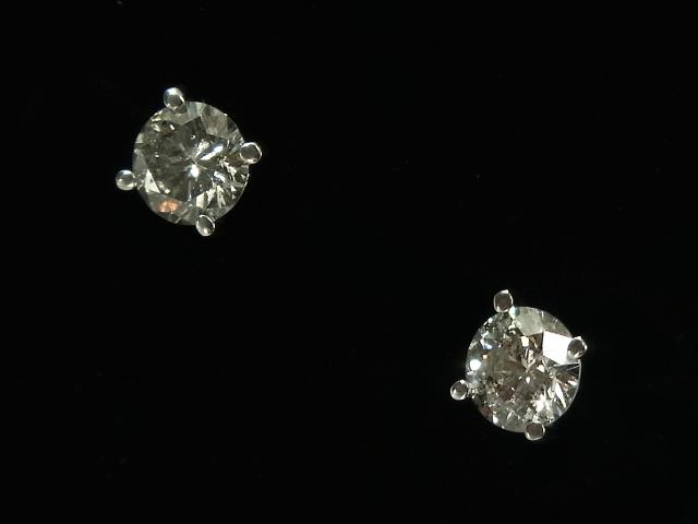 NEW 卸直営 ピアス - earing 粒ダイヤ Dカラー VS2 1.14ct 数量は多 ダイヤモンド ベルギー製 無垢 WG ホワイトゴールド