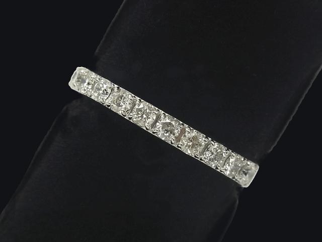 【NEW】 ダイヤモンド リング - RING - ハーフエタニティ 11Pダイヤ PT プラチナ 無垢 /ダイヤ(0.50ct) 指輪