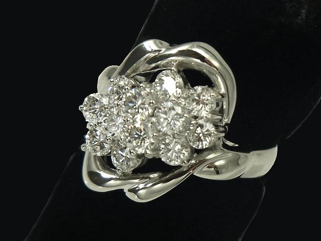 【NEW】 ダイヤモンド リング - RING - デザイン 12粒ダイヤ PT プラチナ 無垢 / ダイヤ(1.50ct) 指輪