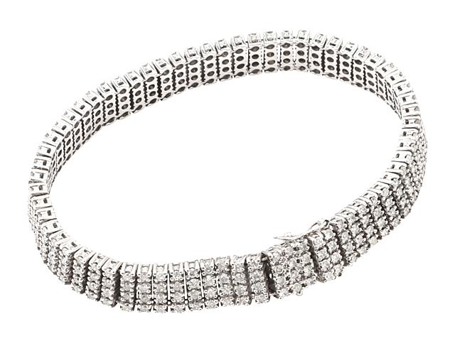 【NEW】 ダイヤモンド ブレスレット - Bracelet - 4ライン テニス ブレスレット 272Pフルダイヤ K14WG(14金 ホワイトゴールド) / ダイヤ 4.00ct) 宝石 ジュエリー