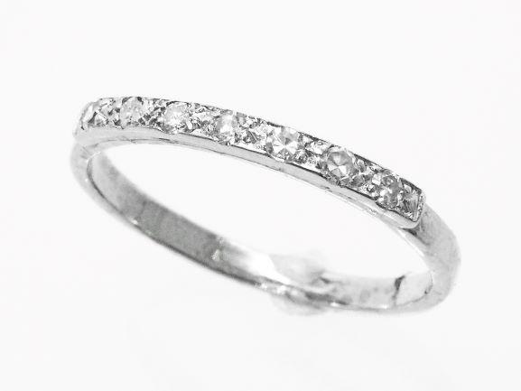 【NEW】ダイヤモンド エタニテイリング - RING – 11Pラウンドダイヤ  18金WG ホワイトゴールド 無垢 / ハーフエタニティリング 指輪