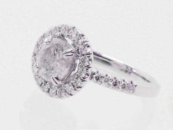 【NEW】 超大粒センターダイヤ1.38ctリング - Dカラー 合計1.77ct PT プラチナ無垢 / ダイヤモンド指輪