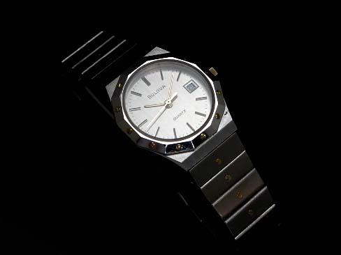 【USED】 ブローバ - BULOVA - ラウンド オクタゴン OH済み! SS/YGP クオーツ レディース 腕時計【中古】