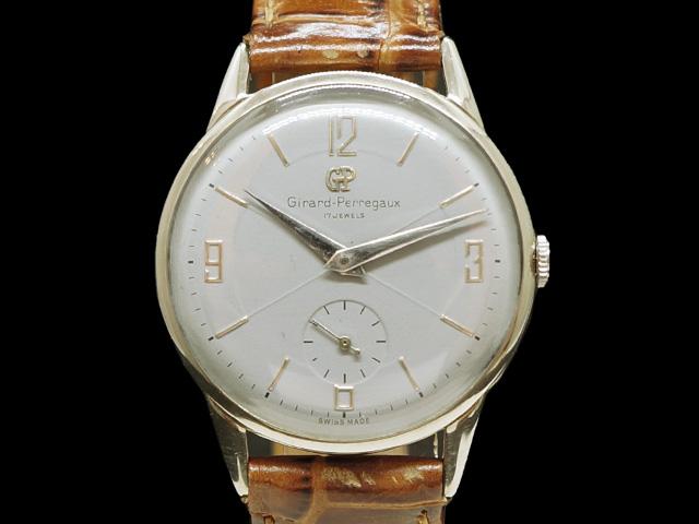 【USED】 ジラール・ペルゴ - GIRARD PERREGAUX - スモセコ ヴィンテージ 貴重! グレーダイヤル SSケース/革 手巻き メンズ 腕時計【中古】