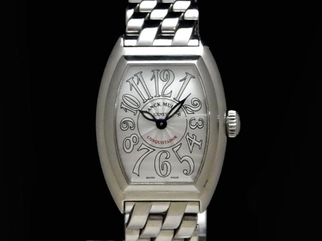 【USED】 フランクミュラー - FRANCK MULLER - コンキスタドール 8005 L QZ SSケース/SSブレス シルバーフェイス クオーツ レディース 腕時計【中古】