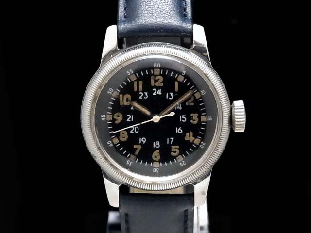 【USED】 ウォルサム ‐ WALTHAM - A-17 パイロットウォッチ ヴィンテージ 希少・ミリタリー! 手巻き SS/革 ボーイズ 腕時計 【中古】