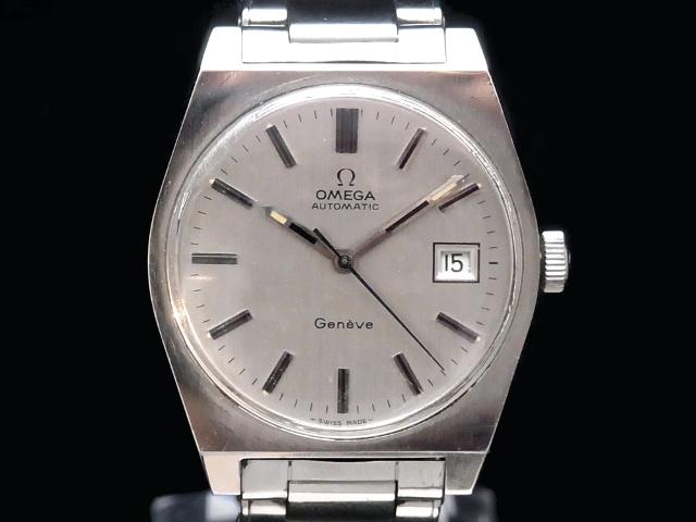 【USED】 オメガ - OMEGA - ジュネーブ デイト Cal.1481 ヴィンテージ SS/SS 自動巻き シルバーダイヤル メンズ 腕時計 【中古】