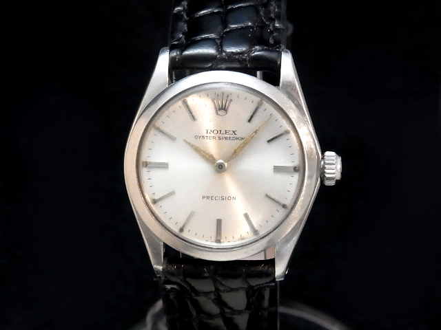 【USED】 ロレックス - ROLEX - スピードキング Ref.6430 SS/革 手巻き 銀 シルバーダイヤル ボーイズ ヴィンテージ 腕時計 【中古】