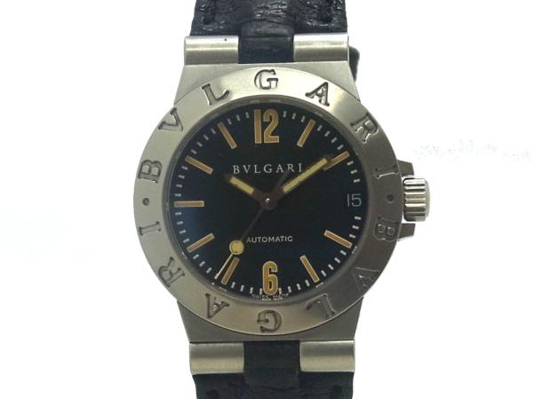 USED ブルガリ - BVLGARI ディアゴノスポーツ LCV29S SSケース 革 Selection Luxury 自動巻き 腕時計 中古 Brand レディ―ス 送料0円 買取