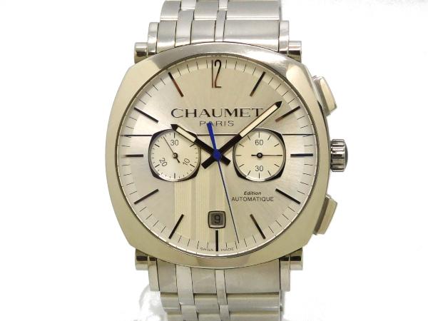 【USED】 ショーメ - CHAUMET - ダンディ クロノグラフ SSケース/SSブレス 自動 シルバー文字盤 メンズ 腕時計【中古】