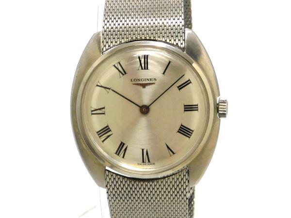【USED】 ロンジン - LONGINES - トノー スリムケース SS/SS 手巻き  メンズ 腕時計 【中古】