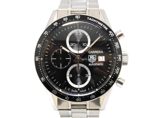 【USED】 タグホイヤー - TAG HEUER - カレラ クロノグラフ CV2010-3 SS/SS 自動巻き 黒文字盤 メンズ 腕時計 【中古】