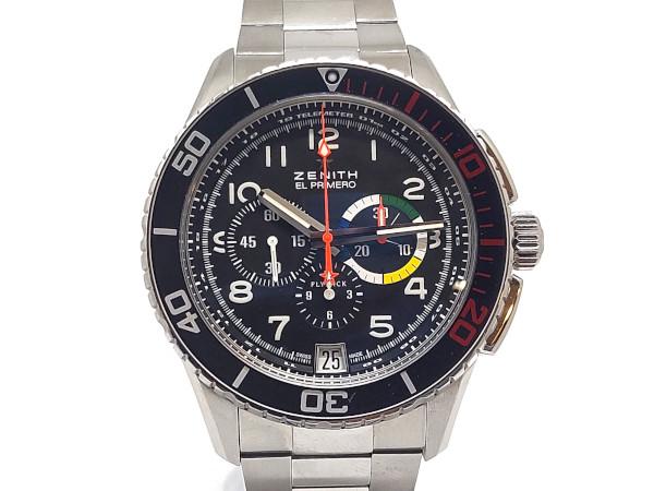 USED ゼニス - ZENITH エルプリメロ ストラトス フライバック レインボー 卸直営 メンズ 中古 21.M2060 最新 付属品完備 自動巻き SS 腕時計 03.2061.405