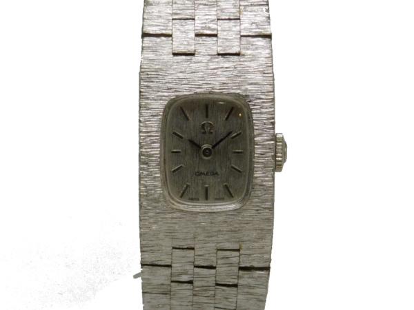 USED オメガ プレゼント - OMEGA ヴィンテージ スクエア SSケース 最安値に挑戦 SSブレス シルバー文字盤 レディース 中古 腕時計 Selection Luxury Brand 手巻